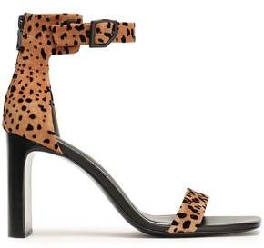Rag & Bone Ellis Leopard-print Flocked Suede Sandals