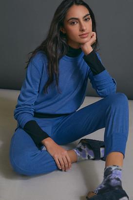 Sundry Kora Banded Sweatshirt By in Blue Size XS
