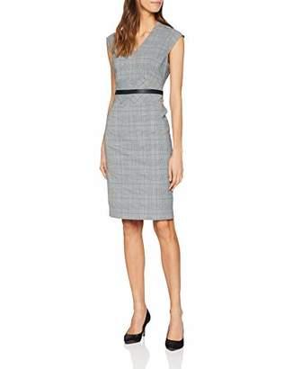Karen Millen Women's Tailored Check Collection Dress Pencil Checkered Short Sleeve Dress,(Manufacturer Size:UK )