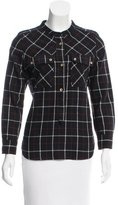 Etoile Isabel Marant Wool-Blend Plaid Top