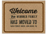 Minted Welcome Door Mat Moving Announcements