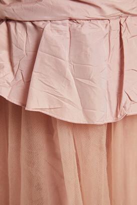 RED Valentino Ruffled Crinkled-taffeta And Tulle Midi Dress