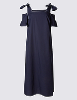Limited Edition Pure Cotton Cold Shoulder Midi Dress