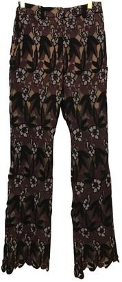 Self-Portrait Black Cotton Trousers