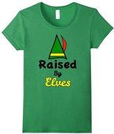 Kids Family Christmas Shirts Raised By Elves Family Shirts Set 10