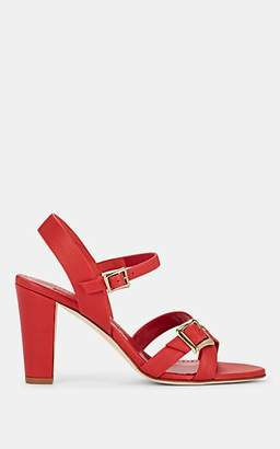 Manolo Blahnik Women's Rioso Leather Sandals - Red Leather