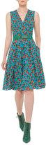 Akris Ai-Print Sleeveless A-Line Dress, Multi