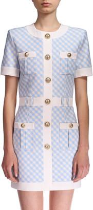 Balmain Gingham Mini Dress