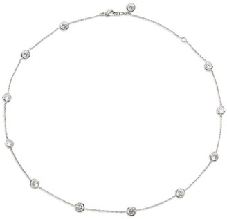 Adriana Orsini Bezel-Set Stationed Necklace