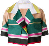 Odeeh colour-block cropped jacket