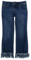 Tractr Girl's Frayed Hem Crop Jeans