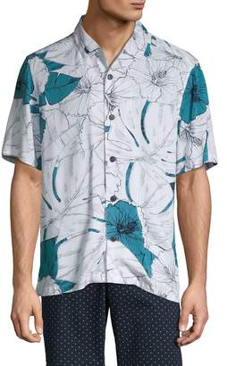 Perry Ellis Printed Short-Sleeve Shirt