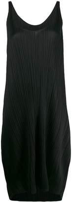 Pleats Please Issey Miyake scoop neck dress