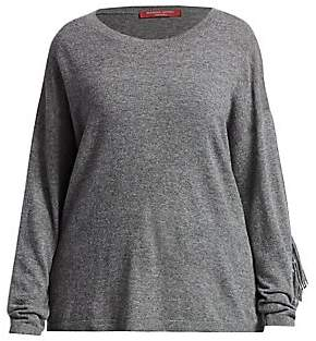 Marina Rinaldi Marina Rinaldi, Plus Size Women's Marina Sport Aereo Alpaca-Blend Fringe Knit Sweater