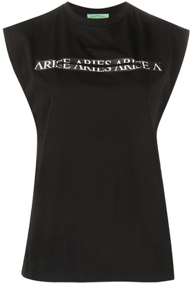Aries Logo Print Tank Top