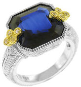 Judith Ripka Estate Ascher Cut East West Ring