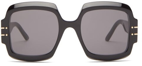 Thumbnail for your product : Christian Dior Diorsignature Oversized Square Acetate Sunglasses - Black