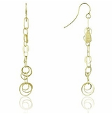 Orlando Orlandini Star - 18K Gold Yellow Circles Earrings