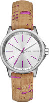 Armani Exchange A|X Women's Beige Cork Strap Watch 36mm AX4349