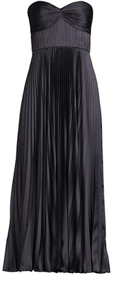 AMUR Pleated Strapless Belle Dress