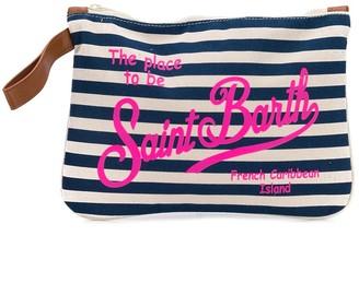 MC2 Saint Barth Parisienne striped clutch bag