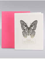 Marks and Spencer Friend Gold Butterfly Card