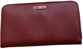 Fendi Burgundy Leather Wallets