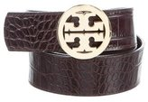 Tory Burch Embossed Logo Belt