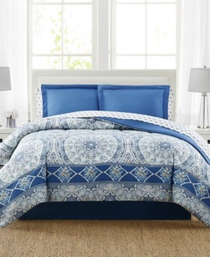 Pem America Katherine 8-Pc. Reversible Queen Comforter Set, Created for Macy's Bedding