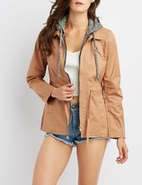 Charlotte Russe Hooded Lightweight Anorak Jacket