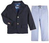Andy & Evan Infant Boy's Twill Blazer & Pants Set