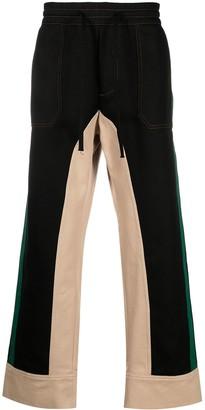 Marni Colour Block Straight Leg Trousers