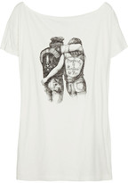 Property printed cotton-blend T-shirt