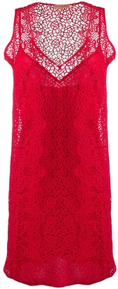 Ermanno Scervino Knitted Lace Sleeveless Dress