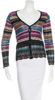 M Missoni Printed Button Up Cardigan