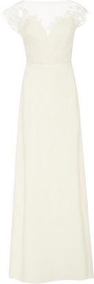 Carolina Herrera Bridal Hannah Illusion Lace Open-Back Silk-Georgette