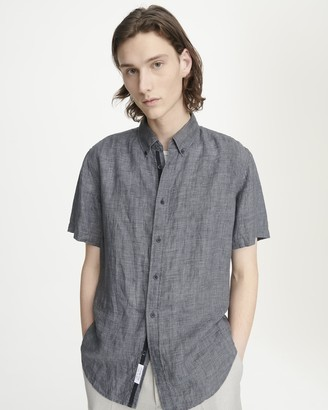 Rag & Bone Fit 2 short sleeve tomlin linen shirt
