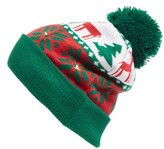 Collection XIIX Women's Holiday Lights Beanie - Green