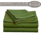CALLA Clara Clark Supreme 1500 Collection 4pc Bed Sheet Set - Queen Size, Green