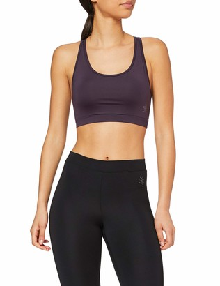 Amazon Brand - AURIQUE Women's Low Impact Strappy Yoga Sports Bra