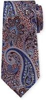Ermenegildo Zegna Woven Paisley Silk Tie, Pink