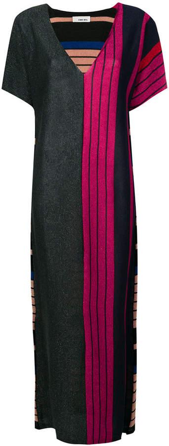 Circus Hotel colour-block striped dress