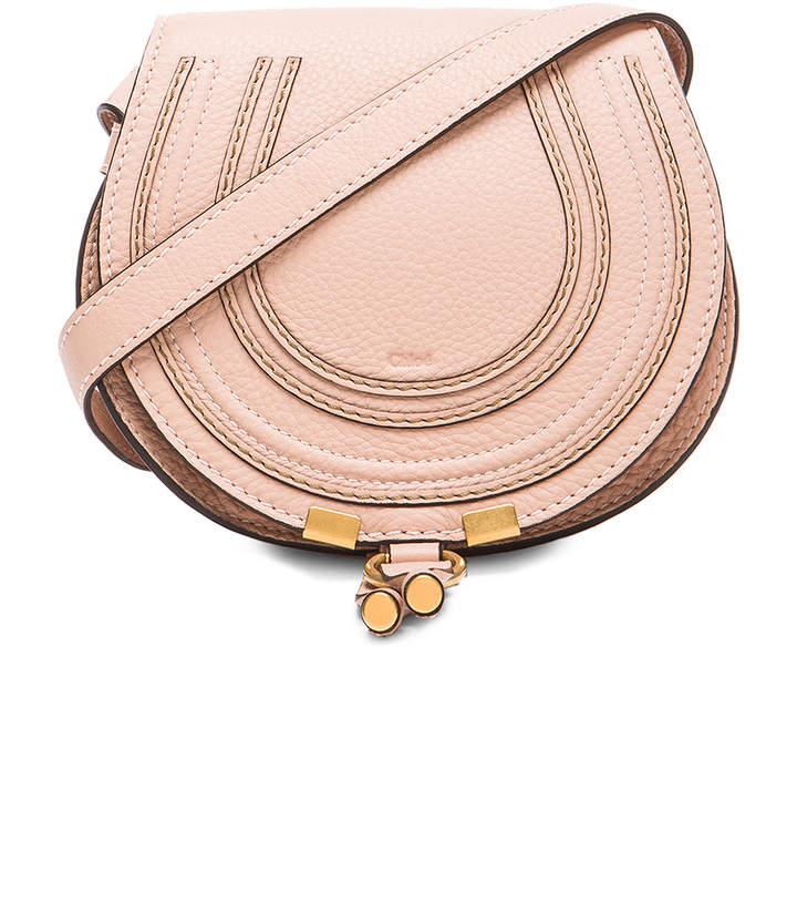 Chloé Small Marcie Grained Calfskin Saddle Bag