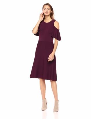 Eliza J Women's Cold Shoulder Fit and Flare Dress