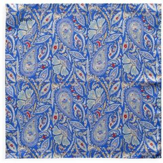 Eton Reversible Paisley & Micro Print Silk Pocket Square