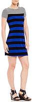 Calvin Klein Stripe Knit Jersey T-Shirt Dress