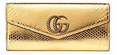 Gucci Women's Broadway Python Clutch With Double G