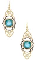 Armenta Old World 18K Gold, Malachite, Moonstone & 0.84 Total Ct. Diamond Large Saddle Scroll Earrings