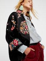 Free People Floral Kimono Track Jacket