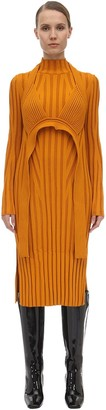 Proenza Schouler Viscose Blend Rib Knit Midi Dress